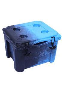 Caixa Térmica Cooler 15 Litros Azul E Preto Brudden Náutica