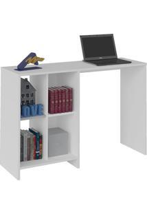Escrivaninha / Mesa Para Notebook Matrix Branco E 4 Nichos - Artely