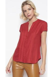 Blusa Texturizada Com Pregas- Vermelha- Vip Reservavip Reserva