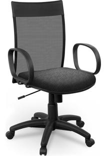 Cadeira Diretor Tela Giobel Braã§O Corsa Cinza - Cinza - Dafiti