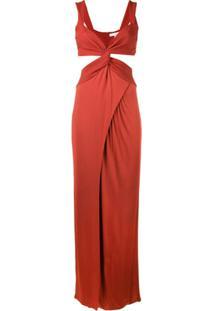 Galvan Horizon Dress - Vermelho