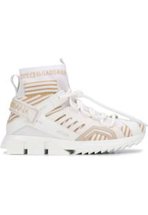 Dolce & Gabbana Sorrento High-Top Trekking Sneakers - Branco