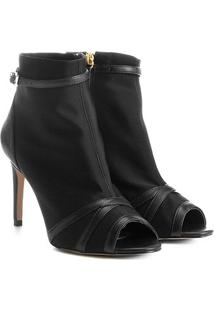 Ankle Boot Shoestock Salto Fino Neoprene - Feminino