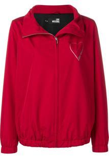 Love Moschino Glitter Heart Raincoat - Vermelho
