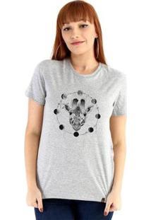 Baby Look Ouroboros Giraffe And Moons Feminino - Feminino