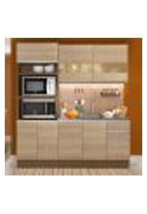 Cozinha Compacta Madesa Lorena 7 Portas 3 Gavetas (Sem Tampo E Pia)