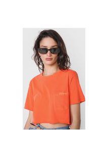 Camiseta Cropped Volcom Solid Laranja