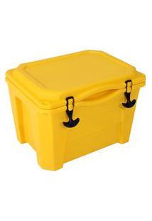 Caixa Térmica Cooler 30 Litros Amarela Brudden Náutica