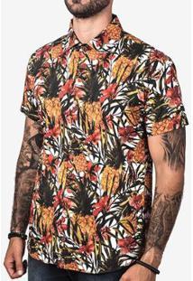 Camisa Hermoso Compadre Pineapple Masculina - Masculino-Branco