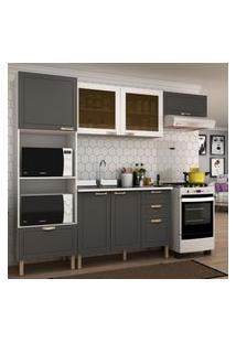 Cozinha Completa 4 Peças Americana Multimóveis 5671 Branco/Grafite