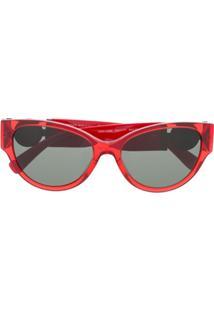Versace Eyewear Óculos De Sol Com Aplicações De Logo - Vermelho