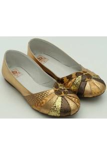 Sapato Metalizado Gats - Feminino-Dourado