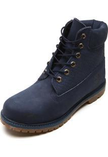 Bota Couro Timberland Yellow Boot Azul-Marinho