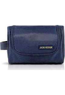 Necessaire C/ Alça Lateral Jacki Design Microfibra - Masculino-Azul