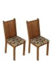 Kit 2 Cadeiras De Jantar 4290 Madesa - Rustic/Bege Marrom