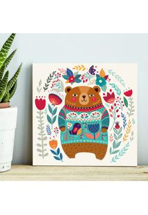 Quadro - Bear And Flowers