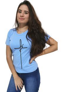Camiseta Feminina Cellos Fé Premium Azul Claro - Kanui
