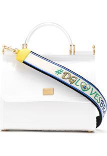 Dolce & Gabbana Bolsa Tote Com Logo - Branco