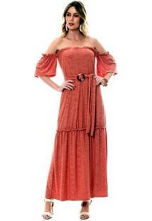 Vestido Bisô Ciganinha Laise Feminino - Feminino-Rosê