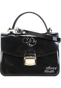 Bolsa Gash Mickey Mini Bag Alça Corrente Feminina - Feminino-Preto