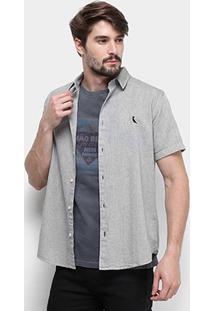 Camisa Manga Curta Reserva Regular Oxford Masculina - Masculino-Preto