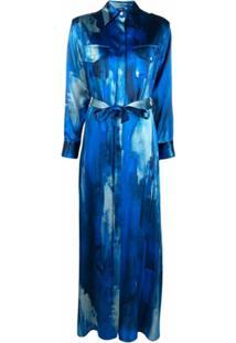 Kiton Chemise Com Padronagem - Azul