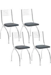 Cadeira 146 Cromada 04 Unidades Jeans Carraro