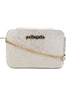 Bolsa Petite Jolie Sandde Bag Sparkle Feminina - Feminino-Ouro