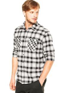 Camisa Ellus Xadrez Bolsos Off- White
