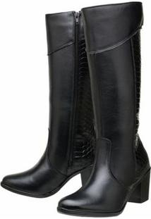 Bota Art Shoes Montaria - Feminino-Preto