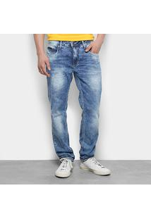 Calça Jeans Skinny Calvin Klein Stone Puídos Masculina - Masculino-Jeans