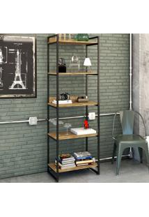 Estante Para Livros 5 Prateleiras Carvalho 8393 - Compace