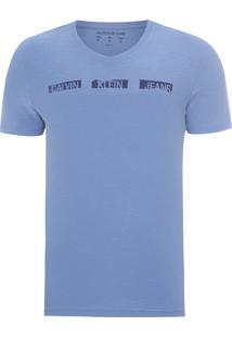 Camiseta Masculina Ckj Est Logo - Azul