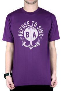 Camiseta Bleed American Refused To Sink Roxo