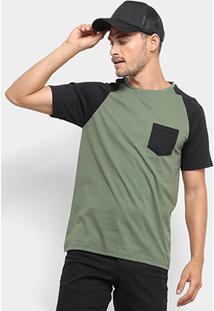 Camiseta Mood Bolso Masculina - Masculino