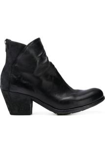 Officine Creative Ankle Boot De Couro - Preto