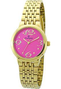 Relógio Champion Analógico Ch24919L Feminino - Feminino-Dourado