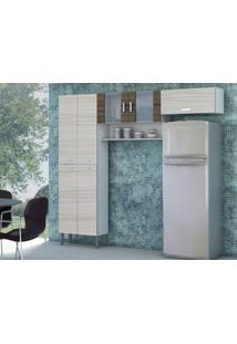 Cozinha Compacta Quartz 7 Portas Rovere/Dubai - Kits Paraná