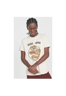 Camiseta Forever 21 Cobra Off-White
