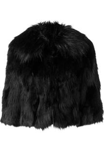 Elisabetta Franchi Faux Fur Jacket - Preto