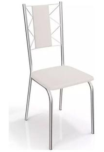 Cadeira Kappesberg Lisboa 4C076 (4 Unidades) Croma/Branco