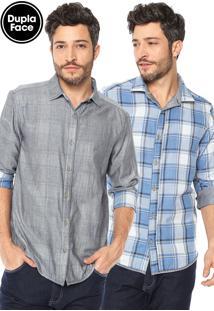 Camisa Malwee Slim Cinza