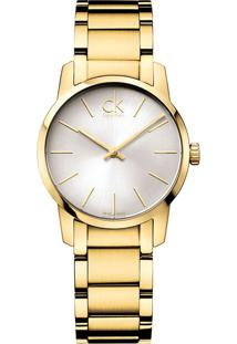 Relógio Calvin Klein Feminino Em Aço Dourado