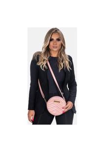 Bolsa Redonda Transversal Star Shop Rosa