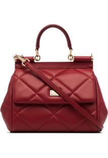 Dolce & Gabbana Bolsa Tote Sicily Matelass㪠- Vermelho