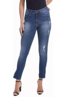 Calça Jeans Denuncia Mid Rise Skinny Feminina - Feminino
