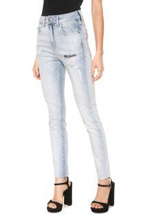 b04224f87 R$ 194,99. Dafiti Calça Jeans Ellus Skinny Destroyed Azul