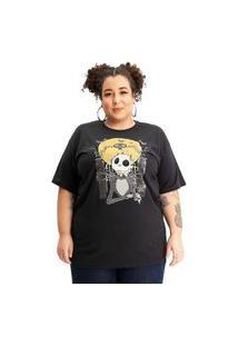 Camiseta Plus Size Estranho Mundo De Jack Preto