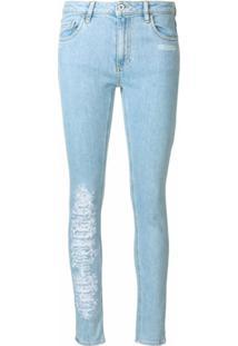 Off-White Calça Jeans Skinny - Azul