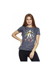 Camiseta Sideway Mulher Maravilha Personagem - Cinza/Preto